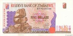 5 Dollars ZIMBABWE  1997 P.05b TTB