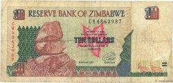 10 Dollars ZIMBABWE  1997 P.06a B