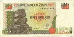 50 Dollars ZIMBABWE  1994 P.08a TB
