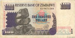 100 Dollars ZIMBABWE  1995 P.09a TB