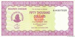 50000 Dollars ZIMBABWE  2005 P.28 NEUF