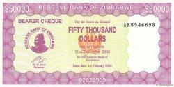 50000 Dollars ZIMBABWE  2006 P.30 NEUF