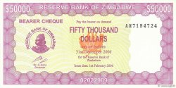50000 Dollars ZIMBABWE  2006 P.30 pr.NEUF