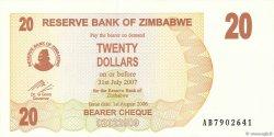 20 Dollars ZIMBABWE  2006 P.40 pr.NEUF