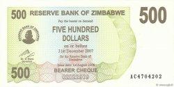 500 Dollars ZIMBABWE  2006 P.43 NEUF