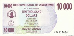 10000 Dollars ZIMBABWE  2006 P.46b pr.NEUF