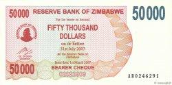 50000 Dollars ZIMBABWE  2007 P.47 NEUF