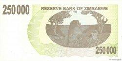 250000 Dollars ZIMBABWE  2007 P.50 NEUF