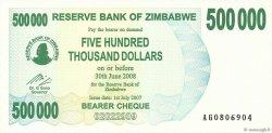 500000 Dollars ZIMBABWE  2007 P.51 NEUF