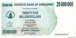 25 Millions Dollars ZIMBABWE  2008 P.56 NEUF