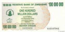 100 Millions Dollars ZIMBABWE  2008 P.58 pr.NEUF