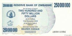250 Millions Dollars ZIMBABWE  2008 P.59 pr.NEUF