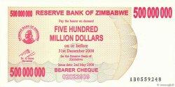 500 Millions Dollars ZIMBABWE  2008 P.60 pr.NEUF