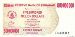 500 Millions Dollars ZIMBABWE  2008 P.60 NEUF