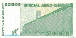 25 Billions Dollars ZIMBABWE  2008 P.62 pr.NEUF