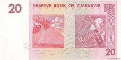 20 Dollars ZIMBABWE  2007 P.68 NEUF
