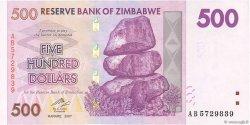 500 Dollars ZIMBABWE  2007 P.70 pr.NEUF