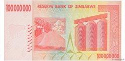 100 Millions Dollars ZIMBABWE  2008 P.80 NEUF