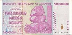 500 Millions Dollars ZIMBABWE  2008 P.82 TTB