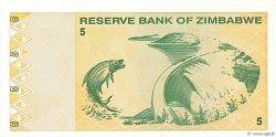 5 Dollars ZIMBABWE  2009 P.93 pr.NEUF