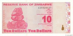 10 Dollars ZIMBABWE  2009 P.94 NEUF