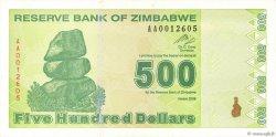 500 Dollars ZIMBABWE  2009 P.98 TTB