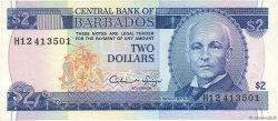 2 Dollars BARBADE  1986 P.42 TTB+