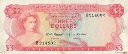 3 Dollars BAHAMAS  1968 P.28a TTB