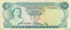1 Dollar BAHAMAS  1974 P.35a TB