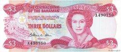3 Dollars BAHAMAS  1974 P.44a NEUF