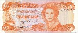 5 Dollars BAHAMAS  1974 P.45b TTB+