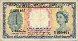 1 Dollar MALAISIE et BORNEO  1953 P.01a TB