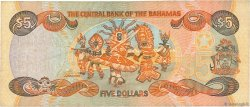 5 Dollars BAHAMAS  2001 P.63b TB