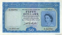 50 Dollars MALAISIE et BORNEO  1953 P.04a SUP