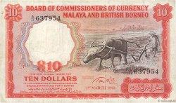 10 Dollars MALAISIE et BORNEO  1961 P.09b TB
