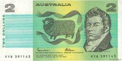 2 Dollars AUSTRALIE  1985 P.43e TTB+