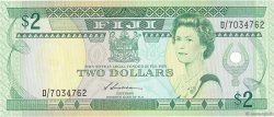 2 Dollars FIDJI  1987 P.087a NEUF