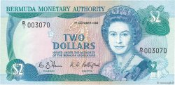 2 Dollars BERMUDES  1988 P.34a NEUF