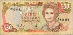 50 Dollars BERMUDES  1989 P.38 TB