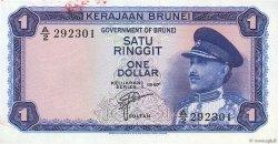 1 Ringgit - 1 Dollar BRUNEI  1967 P.01a NEUF