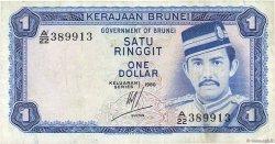 1 Ringgit - 1 Dollar BRUNEI  1980 P.06b TB+
