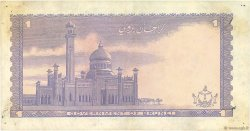 1 Ringgit - 1 Dollar BRUNEI  1980 P.06b TTB