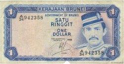 1 Ringgit - 1 Dollar BRUNEI  1986 P.06c B
