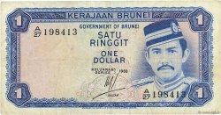 1 Ringgit - 1 Dollar BRUNEI  1983 P.06c TB