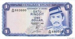 1 Ringgit - 1 Dollar BRUNEI  1983 P.06c pr.NEUF