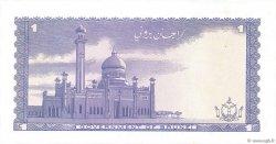 1 Ringgit - 1 Dollar BRUNEI  1984 P.06c SPL