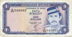 1 Ringgit - 1 Dollar BRUNEI  1988 P.06d TB