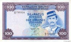 100 Ringgit - 100 Dollars BRUNEI  1983 P.10c SPL