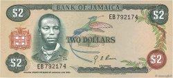 2 Dollars JAMAÏQUE  1976 P.60a SUP+