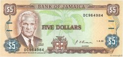5 Dollars JAMAÏQUE  1992 P.70d pr.NEUF